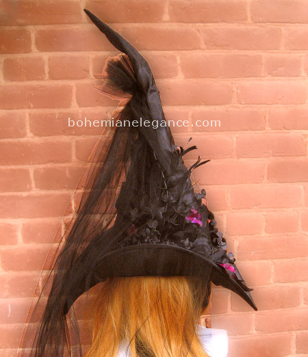 Elegant Victorian Witch Hat