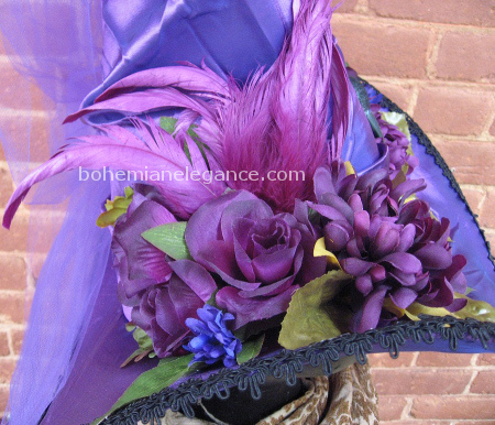 Purple Passion Victorian Gothic Witch Hat