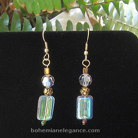 Fairy Fire Glass beaded Earrings