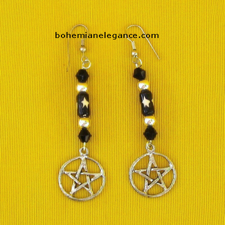 Pagan Pentacle Earrings