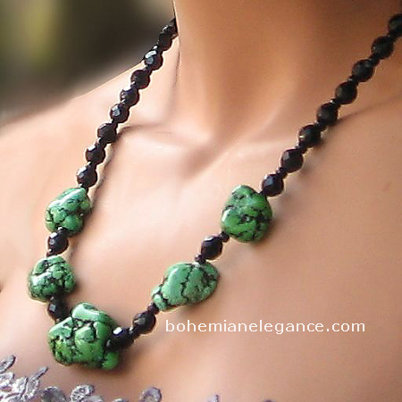 Gothic Kryptonite Necklace