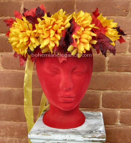 Autumn Gold Headwreath