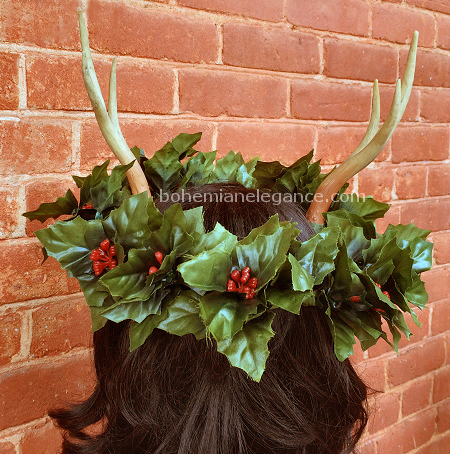 Holly King Horned Crown