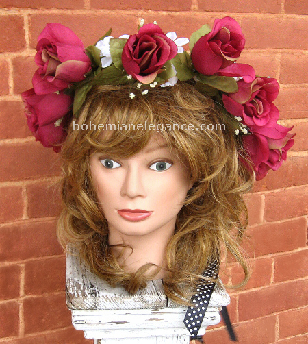Cranberry Rose Fairy Crown