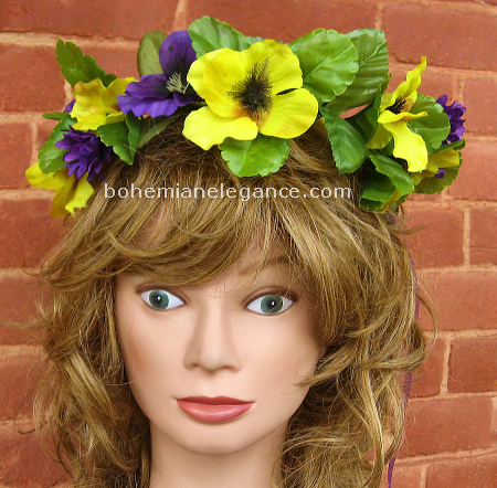 Pansy Fairy Crown