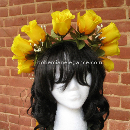 Fairy Crown Yellow Roses